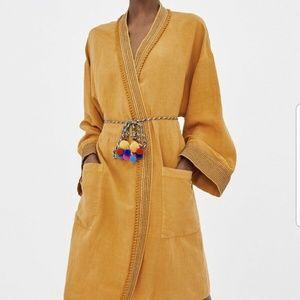 Zara loose fitting kaftan kimono long sleeves